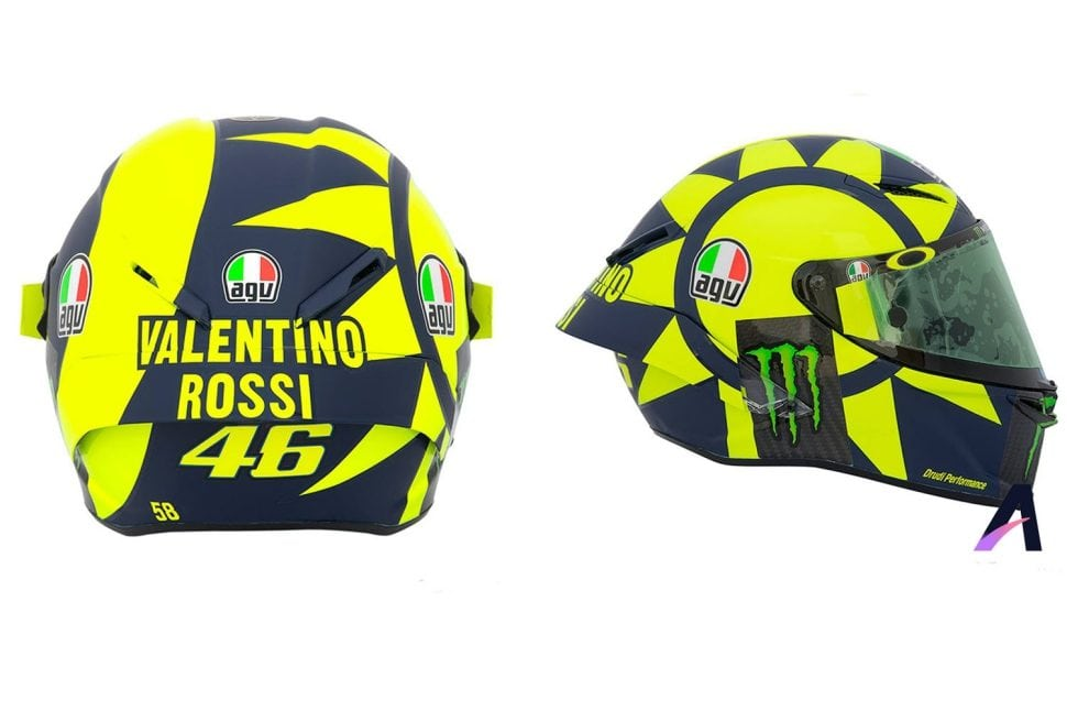 The AGV Helmets Pista GP R Soleluna 2018